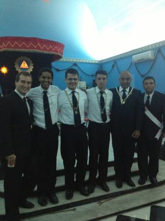 Uma outra foto com as lideranças estaduais e os visitantes (eu e Olavo).