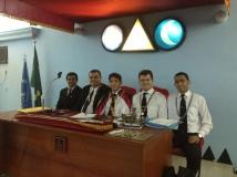 Na sessão do Cap. Prof. Carvalho Neves, liderado pelo MC Diógenes Quaresma - um grande Irmão!