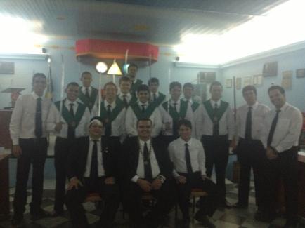 Após a investidura de novos Irmãos Servidores no Convento 28 de Novembro.