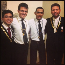 Ao lado de gigantes! Ir. Marcelo (GME-PI), Ir. Armínio (MCE-PI) e tio Ilan (ex-GME-PI)