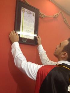 Recebimento da Carta Constitutiva Permanente do Cap. Valdir Edson Soares, nº 654